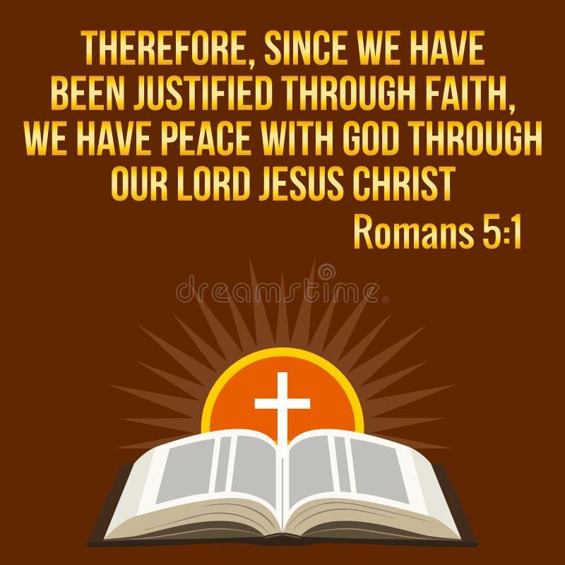 Citazione motivazionale cristiana Verso della bibbia Sole trasversale e brillante illustrazione vettoriale