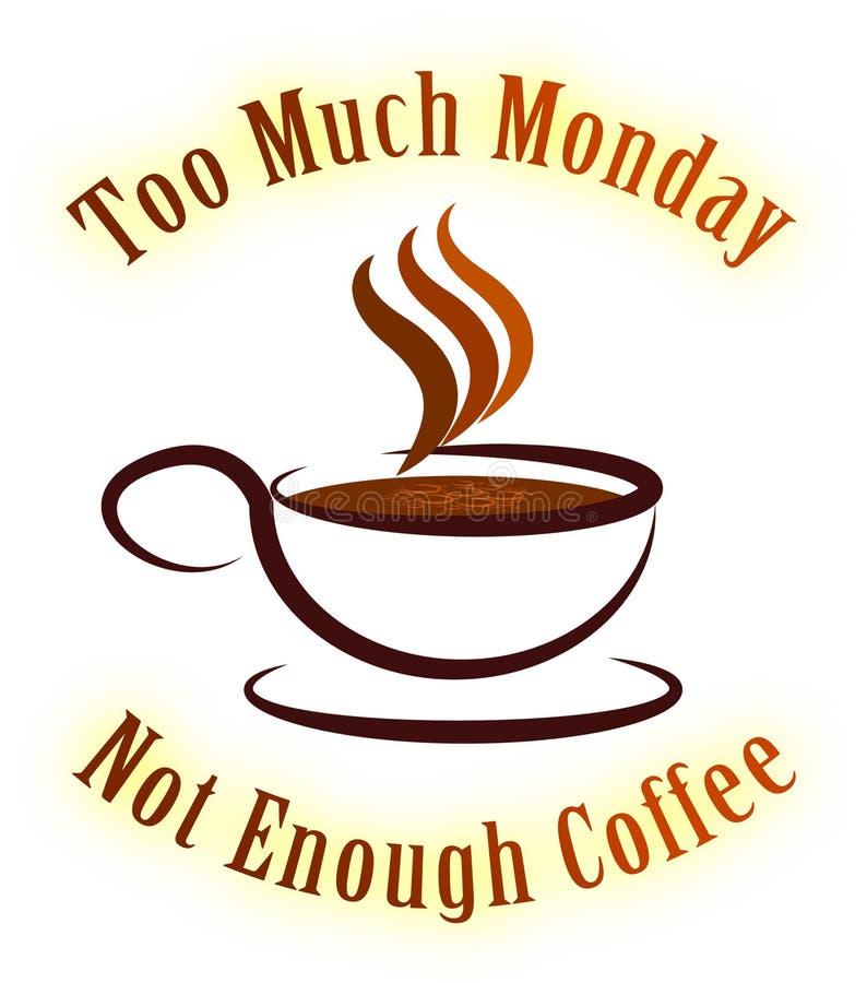 Citazioni del caffè di lunedì - non abbastanza - illustrazione 3d illustrazione di stock