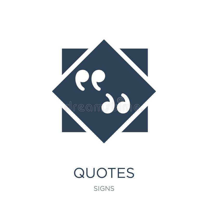 cite l'icône dans le style à la mode de conception Cite l'icône d'isolement sur le fond blanc symbole plat simple et moderne d'ic illustration libre de droits