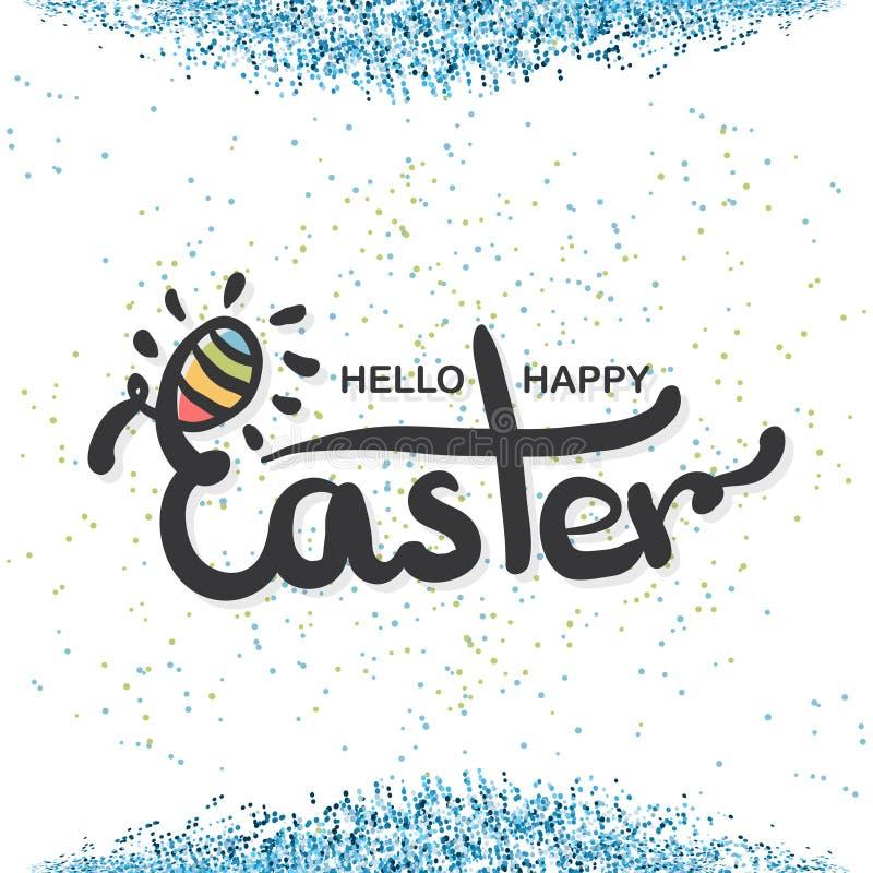 Cite o fundo feliz do projeto do dia da Páscoa com confetes Projeto de rotulação Cartão luxuoso da Páscoa Fundo ilustração stock