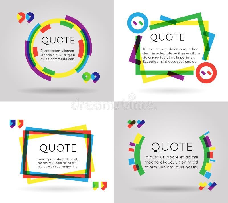 Cite o móbil colorido do negócio do blogue do texto de informação do molde isolado na ilustração branca do vetor do fundo ilustração do vetor