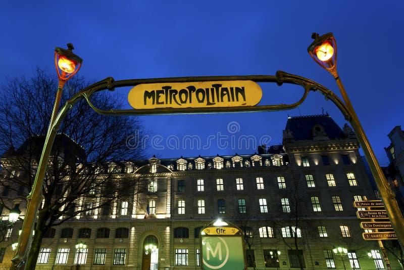 Citera stationen, Paris, Frankrike arkivfoto