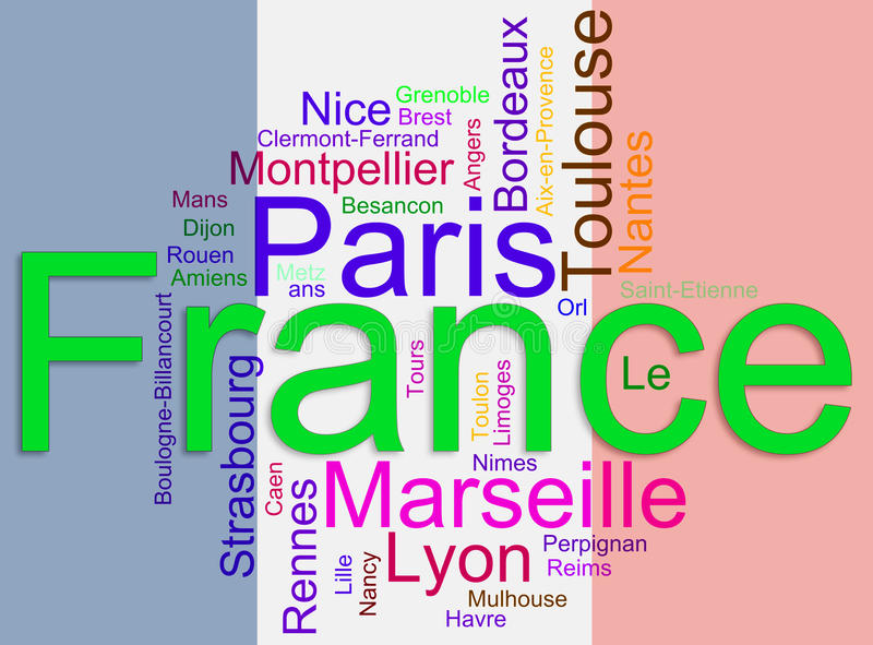 Cites of france wordcloud