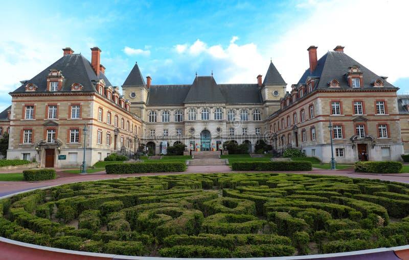 Citez Internationale Universitaire De Paris est un parc et une base privés situés à Paris, France image libre de droits