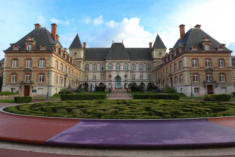 Citez Internationale Universitaire De Paris est un parc et une base privés situés à Paris, France photographie stock libre de droits