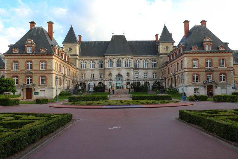 Citez Internationale Universitaire De Paris est un parc et une base privés situés à Paris, France photo libre de droits