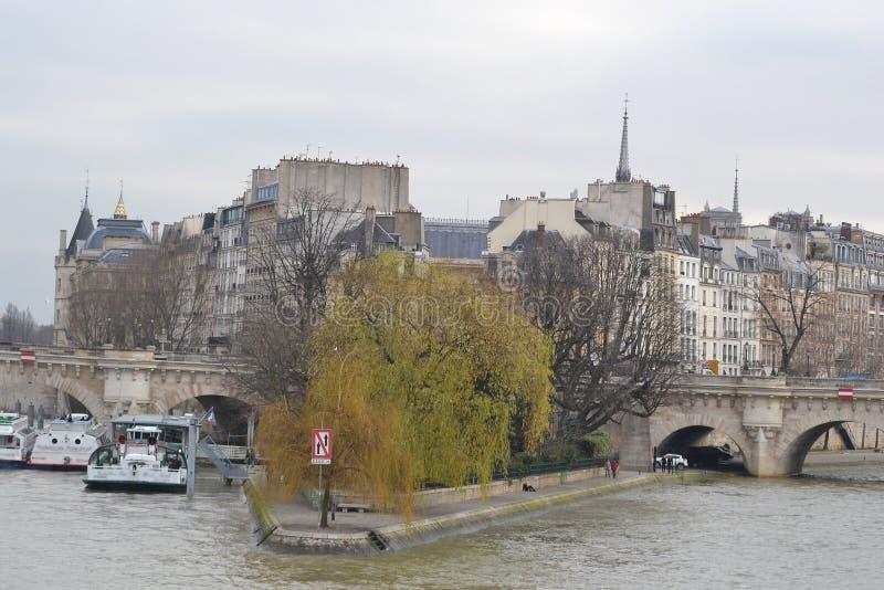 Citi l'isola a Parigi immagine stock