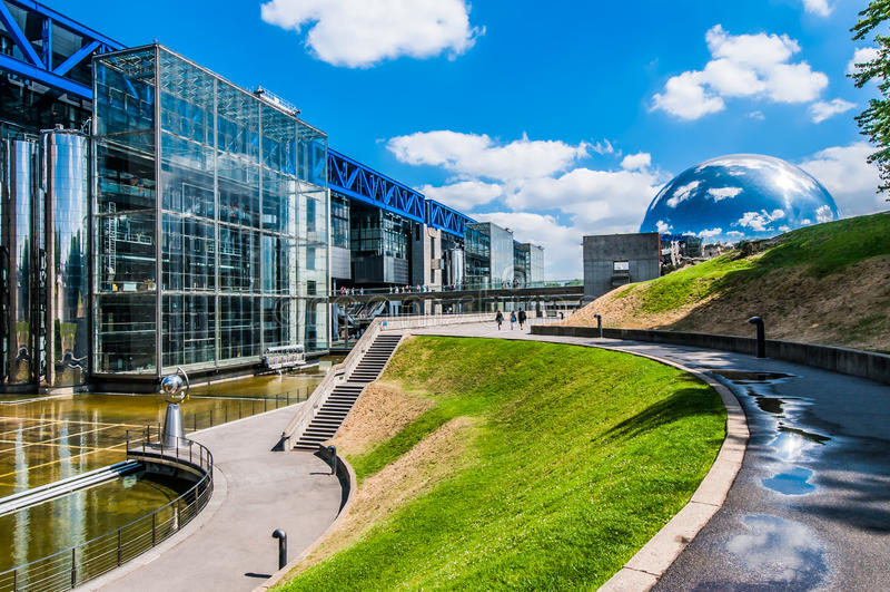 Citi la città Francia del DES sciences parc de la villette Parigi fotografia stock