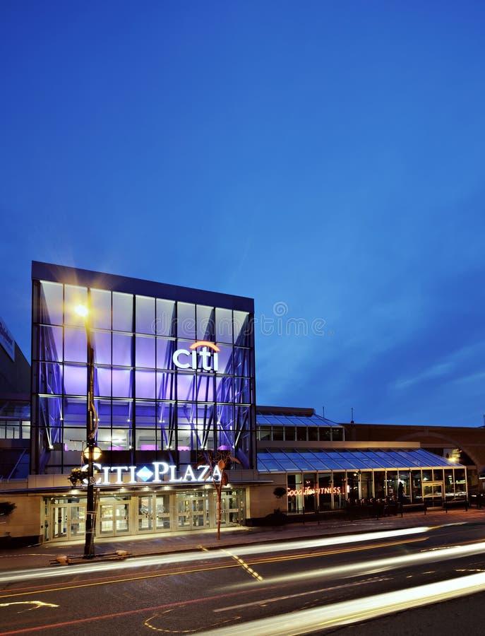 Площадь Citi во время Nighttime стоковые фотографии rf
