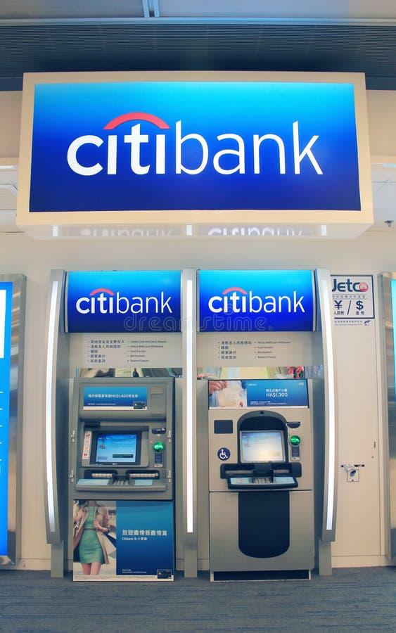 Citibank in Hongkong stock fotografie