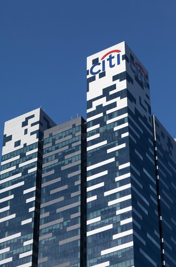 Citibank står hög, Singapore royaltyfri foto