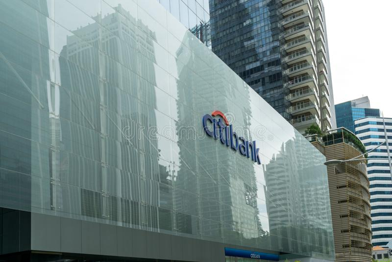 Citibank tecken arkivfoto