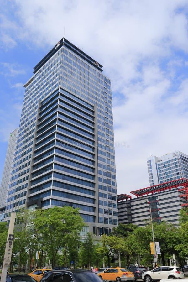 Citibank torn i den taipei staden, taiwan arkivbild