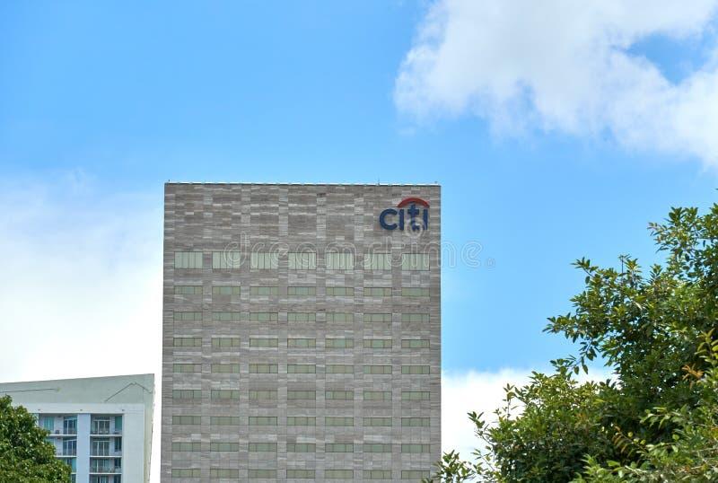 Citibank-wolkenkrabber in Miami, stock afbeeldingen