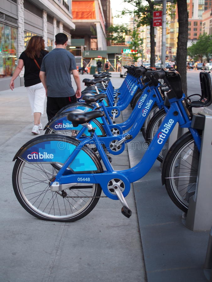 Citibike NYC stock images