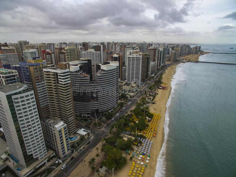 Cities of beaches in the world. City of Fortaleza, state of Ceara Brazil South America. Travel theme. Places to visit and remember royalty free stock photography
