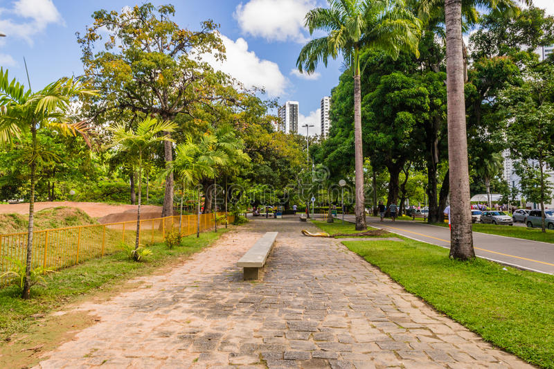 Cities of Brasil - Recife. Park and pier Jaqueira the Capibaribe River in Recife, the state capital of Pernambuco, in northeastern Brazil stock photos