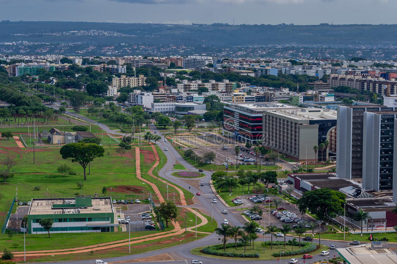 Cities of Brazil - Brasilia DF. Bras�lia is the federal capital of Brazil and seat of government of the Federal District. The city is located in the stock photos