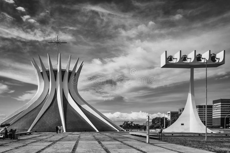 Cities of Brazil - Brasilia DF. Bras�lia is the federal capital of Brazil and seat of government of the Federal District. The city is located in the stock photo