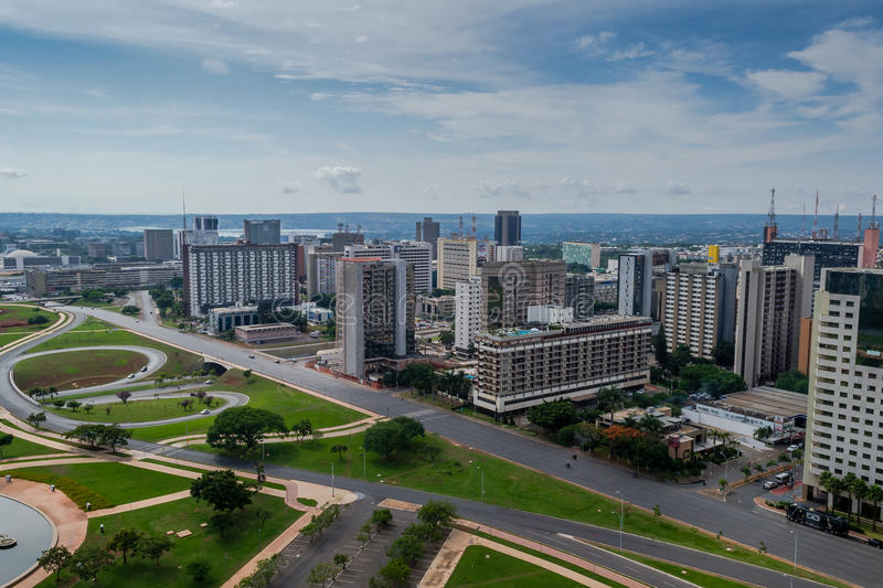 Cities of Brazil - Brasilia DF. Bras�lia is the federal capital of Brazil and seat of government of the Federal District. The city is located in the royalty free stock images
