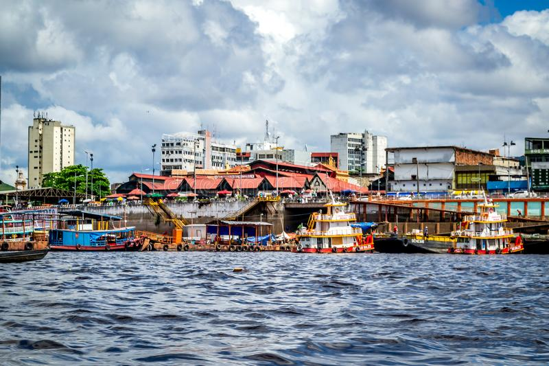 Cities of Brazil - Manaus, Amazonas - City views. Manaus is the Amazonas state`s capital, on the north of Brazil stock photography