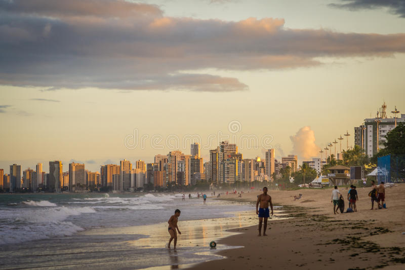 Cities of Brazil - Recife. Recife, the state capital of Pernambuco, in northeastern Brazil, has one of the longest urban beaches in the world: the Boa Viagem royalty free stock photo