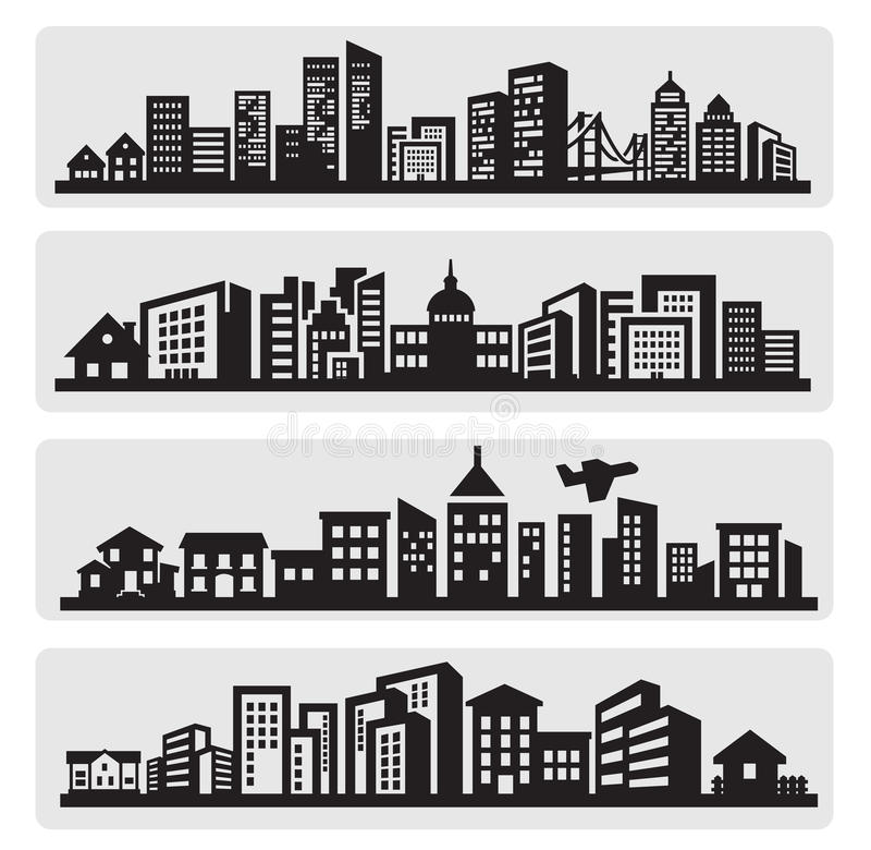 Free Cities Silhouette Icon Stock Photos - 26967753