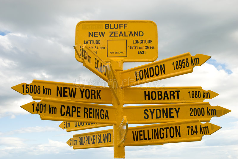Download Cities Of The World Signpost Stock Image - Image: 8062887