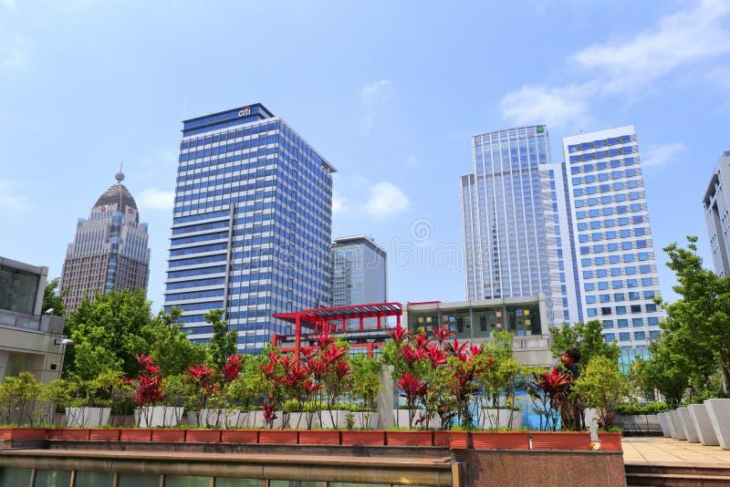 Citigroup torn och andra byggnader royaltyfria foton