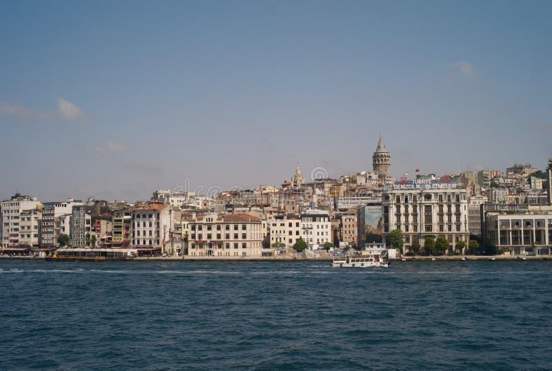 Citiscape van Istanboel met Galata-Toren royalty-vrije stock afbeeldingen