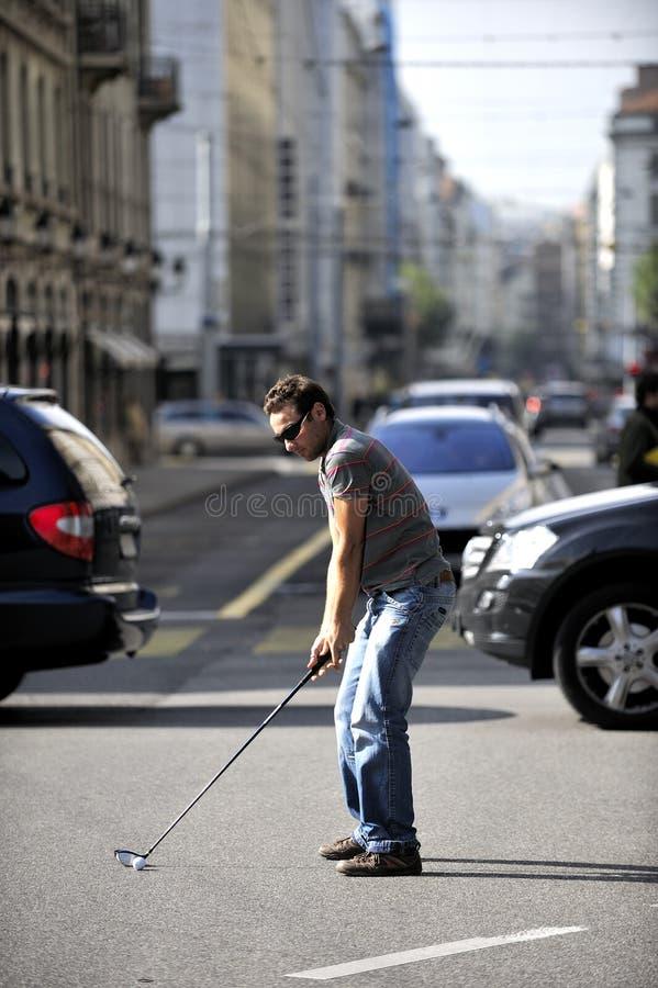 citiy golf arkivfoto