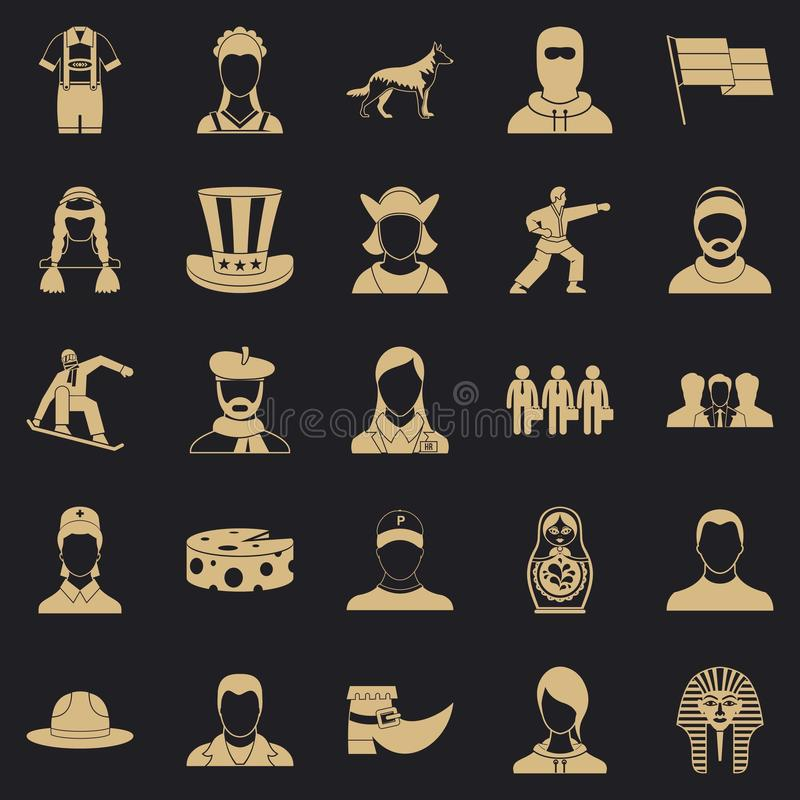 Citizen icons set, simple style. Citizen icons set. Simple set of 25 citizen vector icons for web for any design vector illustration