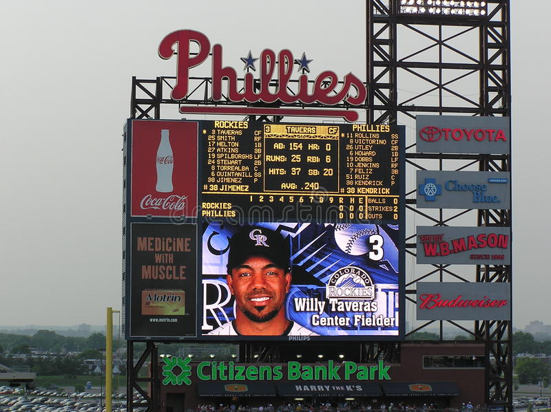 Citizens Bank Park - Scoreboard royalty free stock image