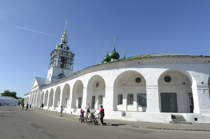 The citizens of the city Yaroslavl, Russia. Activities in the day. June 2014. The citizens of the city Yaroslavl, Russia. Activities in the day. River cruise on stock images