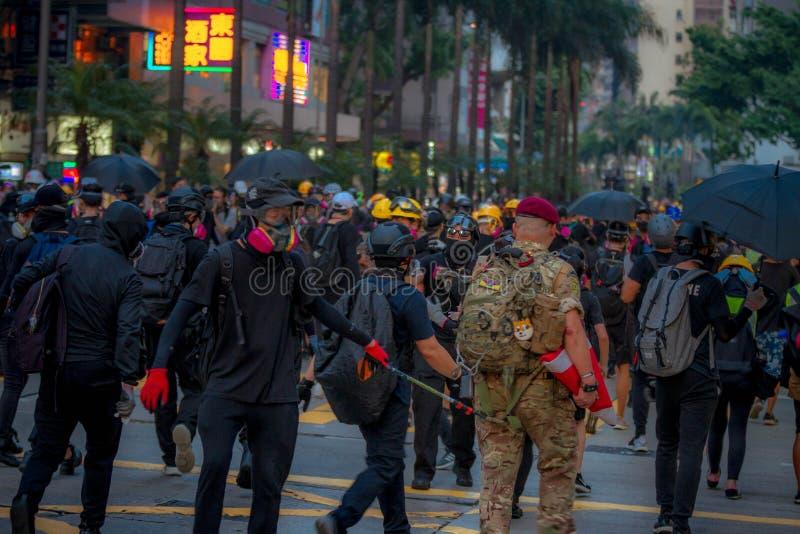 Hong Kong anti extradition bill protests stock photos