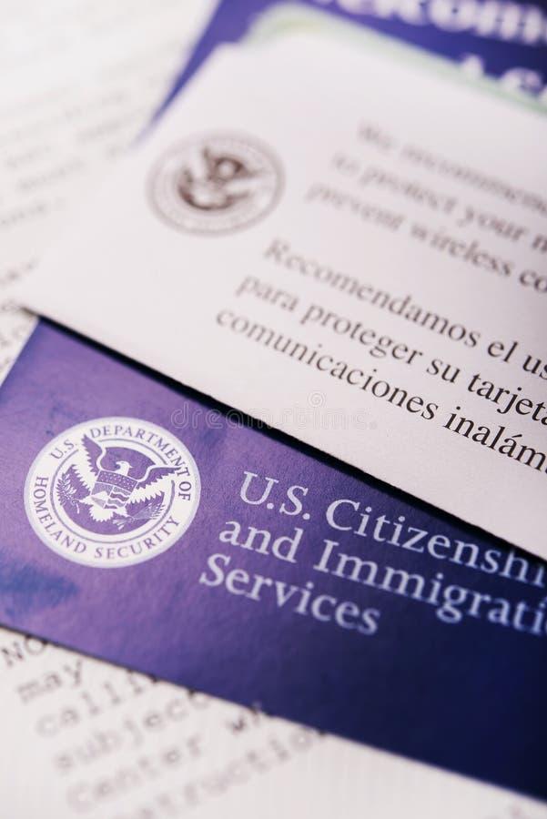Citoyenneté des Etats-Unis images libres de droits