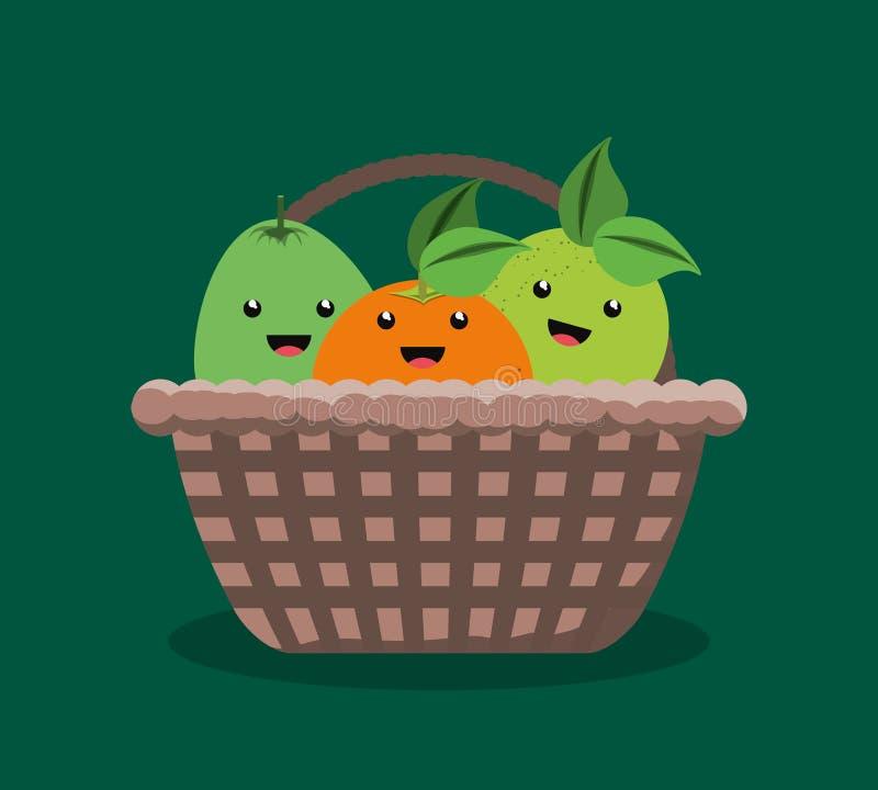 Citric fruits design stock illustration