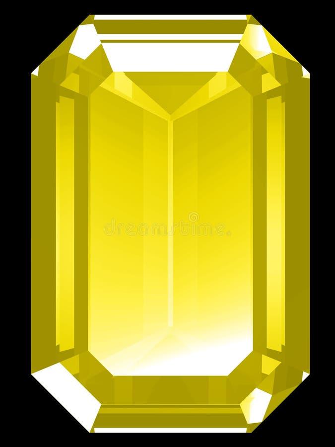 citrine 3 d royalty ilustracja