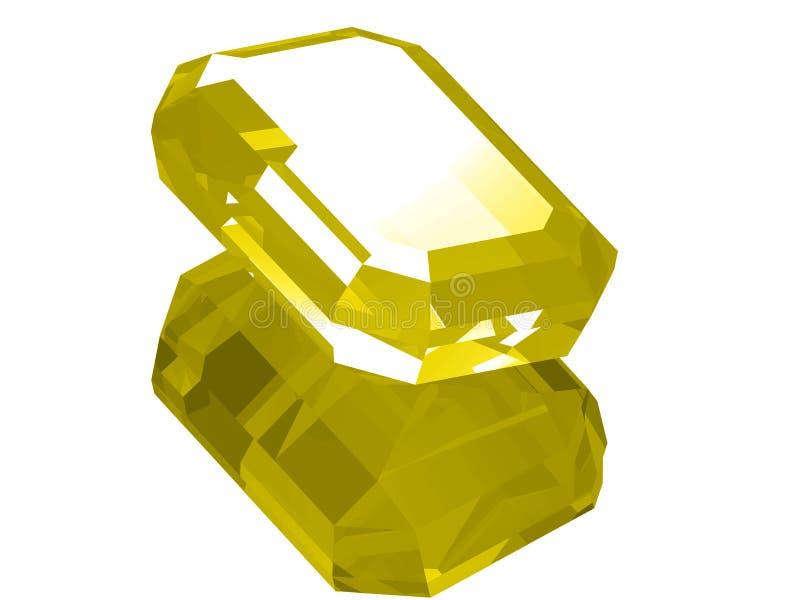 citrine 3d vektor illustrationer