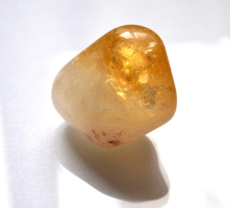 Citrine dråsad naturlig sten Crystal Gemstone royaltyfria bilder