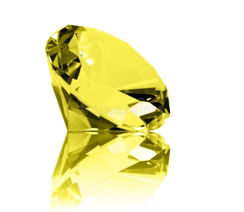 citrine isolerad juvel royaltyfria foton