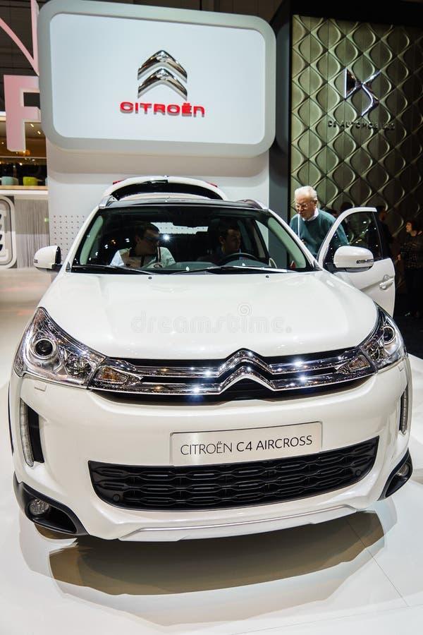 Citroen C4 Aircross, salone dell'automobile Geneve 201 immagine stock libera da diritti