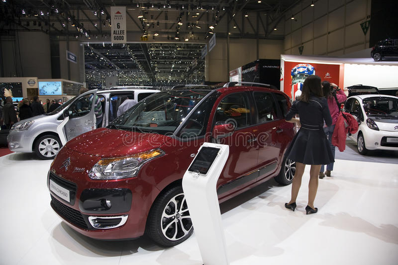 Citroen C3 Picasso. At teh Geneva Motorshow 2011. This picture was taken at the 2011 edition of the Geneva Motorshow. Photo taken on: March 04th, 2011 royalty free stock images