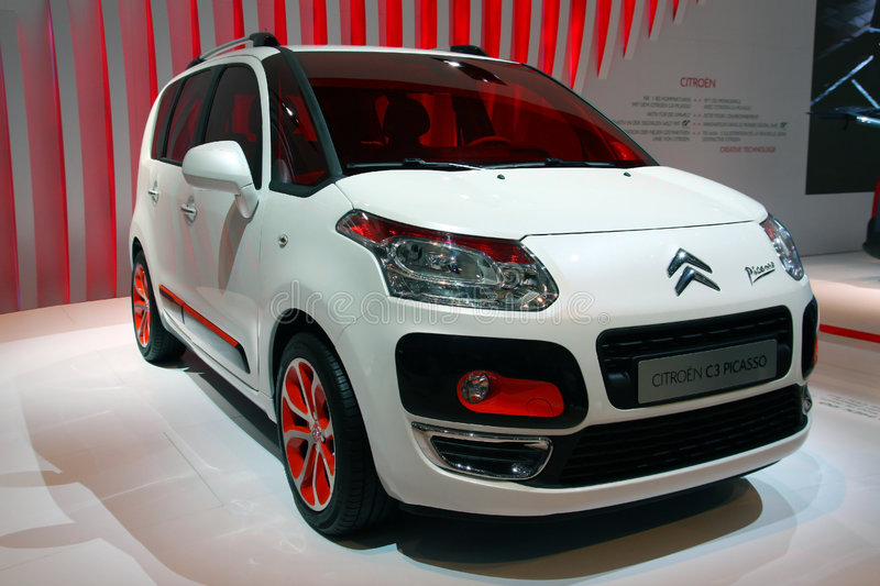 Citroen C3 Picasso at Geneva Motor Show 2009 royalty free stock photos