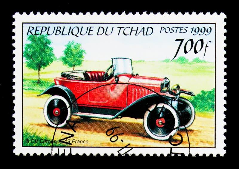 Citroen 1919 5CV, serie antico delle automobili, circa 2000 immagine stock libera da diritti