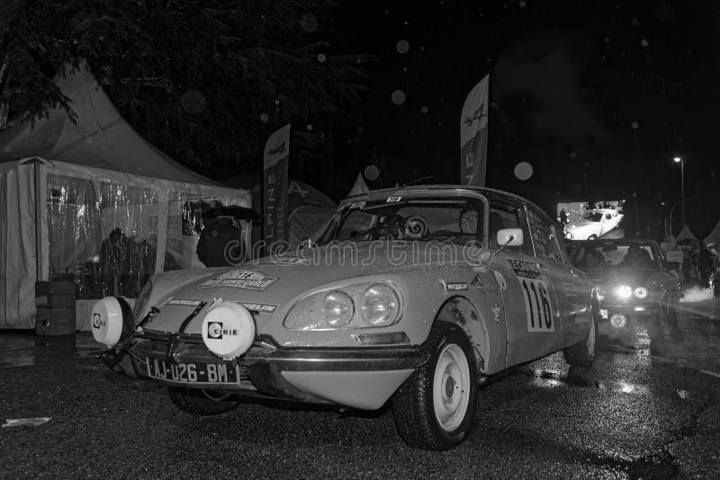 Citroen DS em Valence Black & no branco imagem de stock royalty free