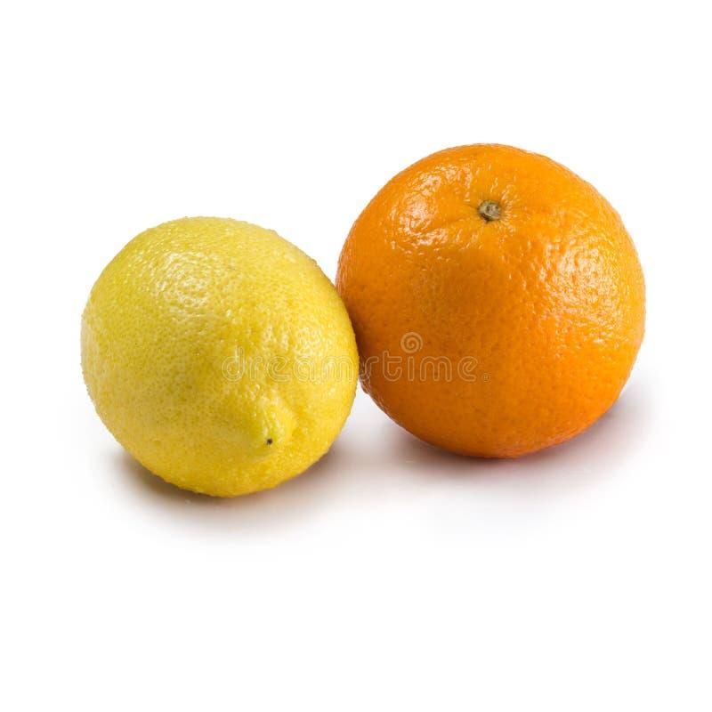 Citroen en sinaasappel royalty-vrije stock afbeeldingen