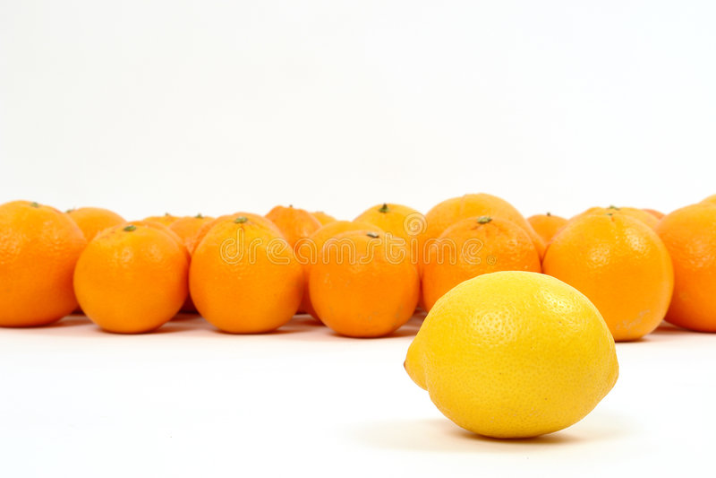 Citroen en Sinaasappelen stock afbeeldingen