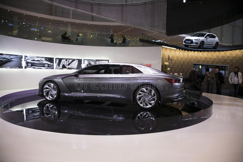 Citroen Metropolis. At the Geneva Motorshow 2011. This picture was taken at the 2011 edition of the Geneva Motorshow. Photo taken on: March 04th, 2011 stock photos