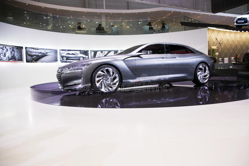 Citroen Metropolis. At the Geneva Motorshow 2011. This picture was taken at the 2011 edition of the Geneva Motorshow. Photo taken on: March 04th, 2011 stock photo